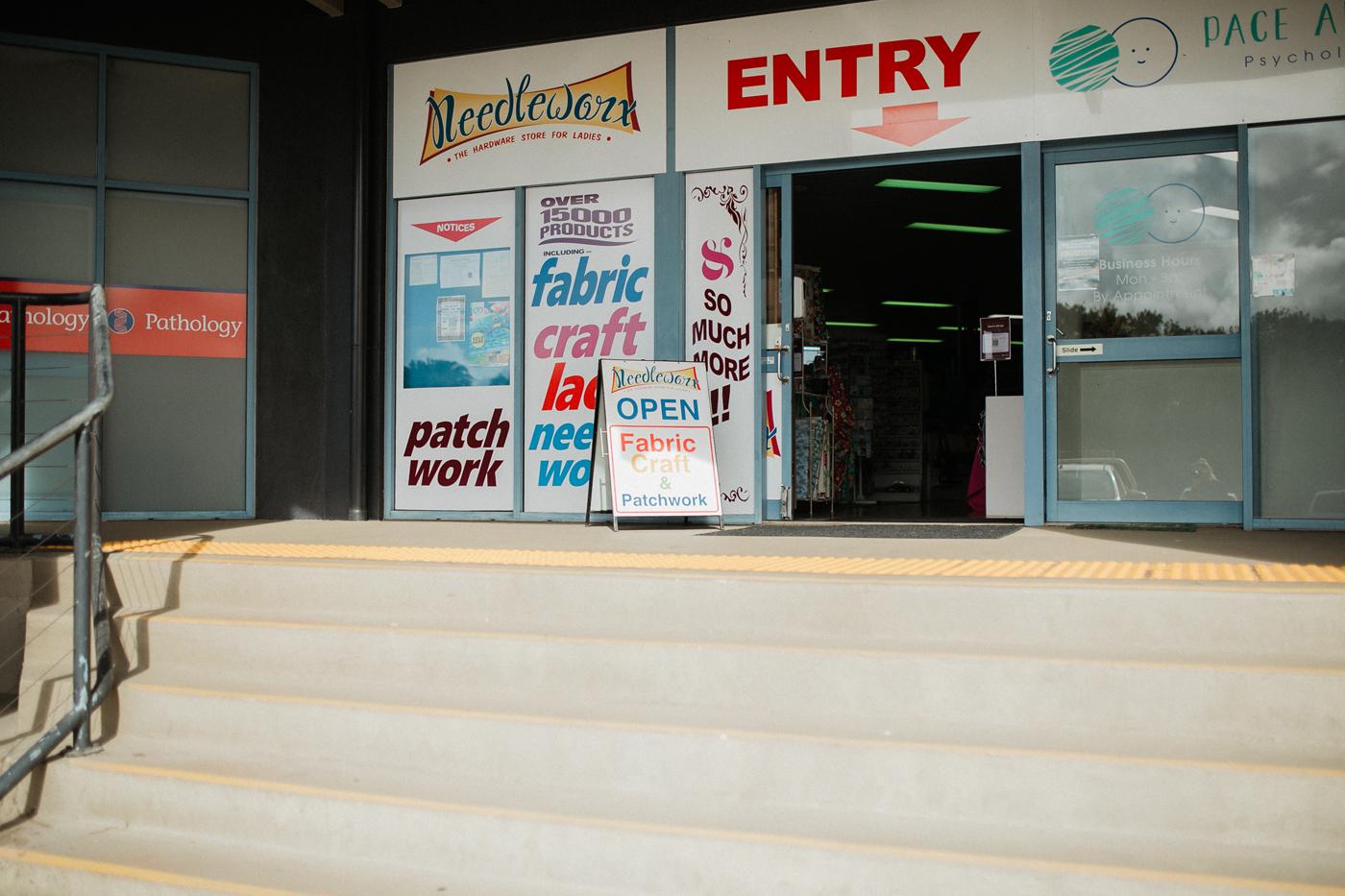 Entrance to Needleworx Mount Pleasant