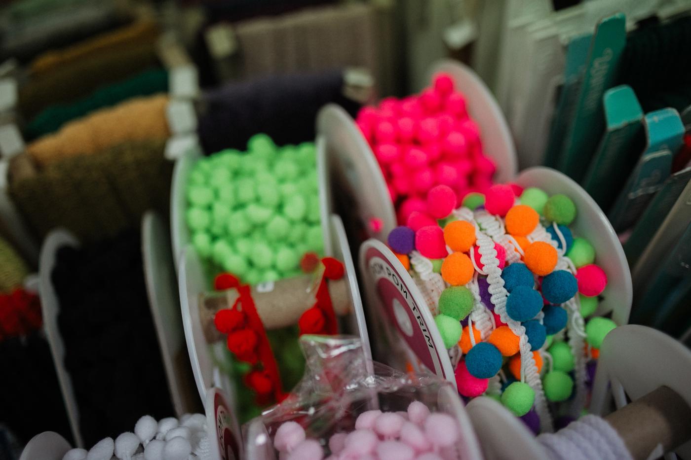 Craft materials and pom pom trim