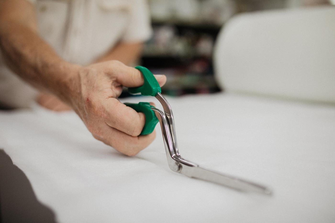 Cutting fabric sewing scissors